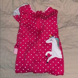 CARTERS cotton footed pajamas with unicorn